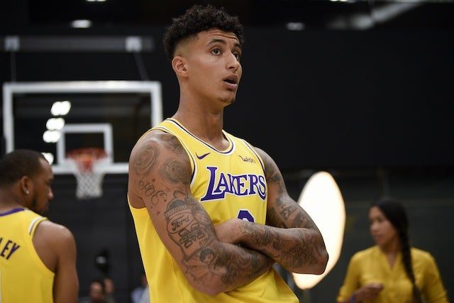 Lakers news: Kyle Kuzma cleared for non-contact practice