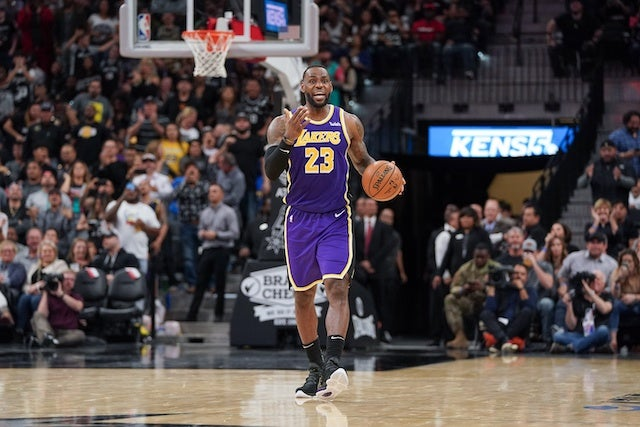Lakers Highlights >> Lakers Highlights Lebron James Second Consecutive Triple